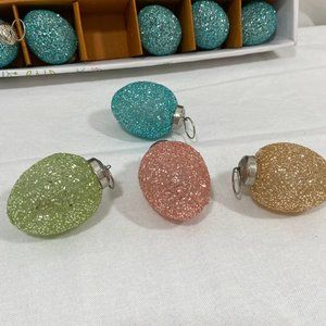 Other - 12 Glass Easter Egg shape TREE Ornaments